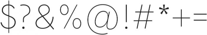 Hanken Grotesk ExtraLight otf (200) Font OTHER CHARS