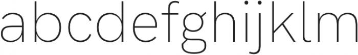 Hanken Grotesk ExtraLight otf (200) Font LOWERCASE