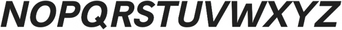 Hanken Sans ExtraBold Italic otf (700) Font UPPERCASE