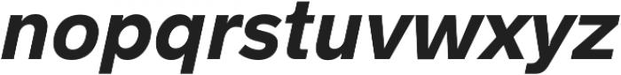 Hanken Sans ExtraBold Italic otf (700) Font LOWERCASE