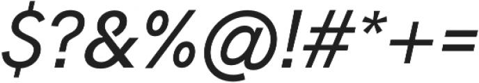 Hanken Sans Medium Italic otf (500) Font OTHER CHARS