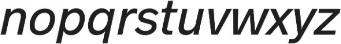 Hanken Sans Medium Italic otf (500) Font LOWERCASE
