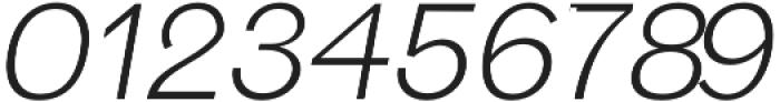 Hanko Light Italic otf (300) Font OTHER CHARS