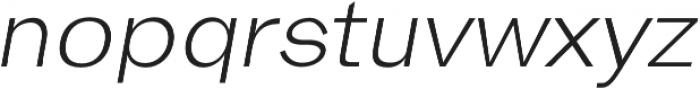 Hanko Light Italic otf (300) Font LOWERCASE