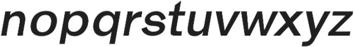 Hanko Semi-Bold Italic otf (600) Font LOWERCASE