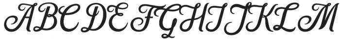 Hanleth otf (400) Font UPPERCASE