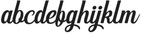 Hanleth otf (400) Font LOWERCASE