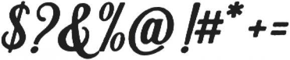 Hanleth rough otf (400) Font OTHER CHARS
