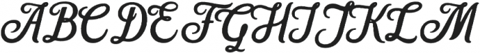 Hanleth rough otf (400) Font UPPERCASE