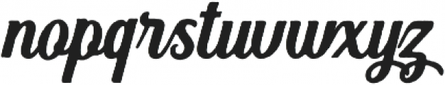 Hanleth rough otf (400) Font LOWERCASE