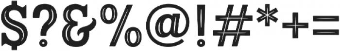 Hanley Pro Block Inline PUA ttf (400) Font OTHER CHARS