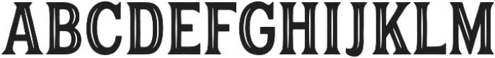 Hanley Pro Block Inline PUA ttf (400) Font UPPERCASE