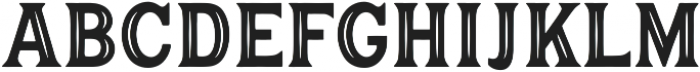 Hanley Pro Block Inline PUA ttf (400) Font LOWERCASE