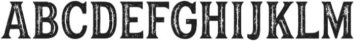 Hanley Rough Block Inline otf (400) Font UPPERCASE