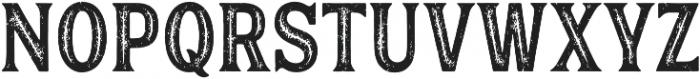 Hanley Rough Block Inline otf (400) Font LOWERCASE
