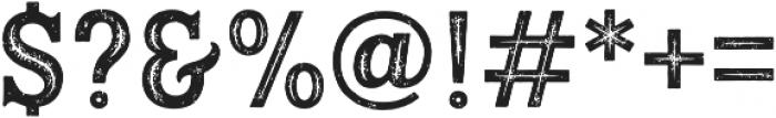 Hanley Rough PUA Block Inline otf (400) Font OTHER CHARS