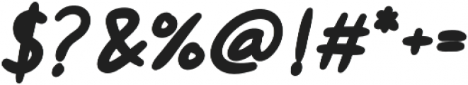 Hanneat Bold Italic otf (700) Font OTHER CHARS