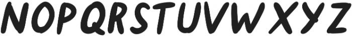 Hanneat Bold Italic otf (700) Font UPPERCASE