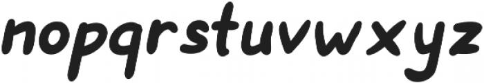 Hanneat Bold Italic otf (700) Font LOWERCASE