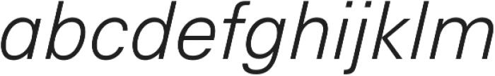 Hans Grotesque Light Italic otf (300) Font LOWERCASE