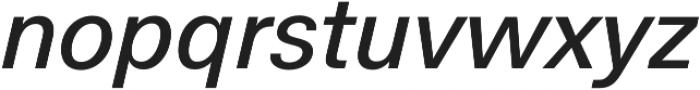 Hans Grotesque Medium Italic otf (500) Font LOWERCASE