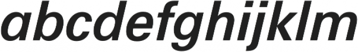 Hans Grotesque SemiBold Italic otf (600) Font LOWERCASE
