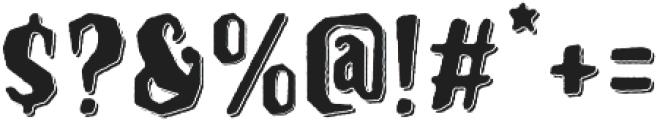 Hanscum 3D  otf (400) Font OTHER CHARS