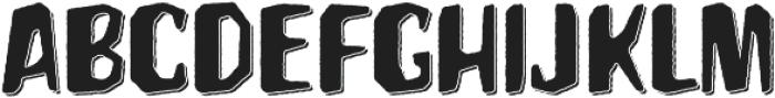 Hanscum 3D  otf (400) Font UPPERCASE