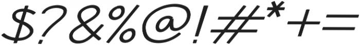 Hansville Italic otf (400) Font OTHER CHARS
