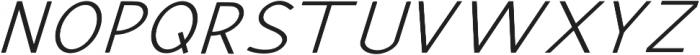 Hansville Italic otf (400) Font UPPERCASE