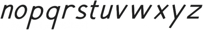 Hansville Italic otf (400) Font LOWERCASE