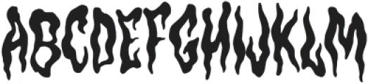Hantu Regular otf (400) Font UPPERCASE