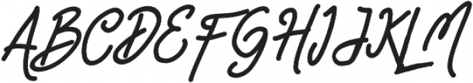 Happiness Script otf (400) Font UPPERCASE