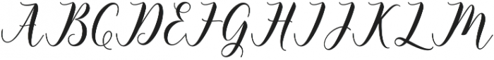 Happy Christmas Script Regular otf (400) Font UPPERCASE