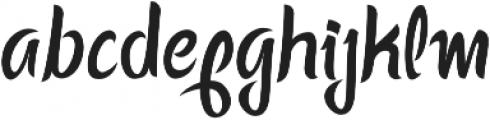 Happy Ending Regular otf (400) Font LOWERCASE