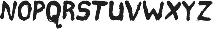 Hard Brush Bold otf (700) Font UPPERCASE