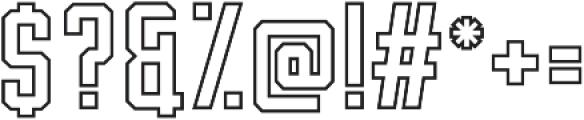 Hardcore line otf (400) Font OTHER CHARS