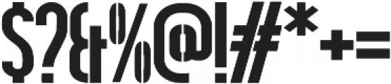 Hardline Stencil otf (400) Font OTHER CHARS