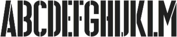 Hardline Stencil otf (400) Font UPPERCASE