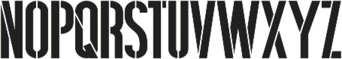 Hardline Stencil otf (400) Font LOWERCASE