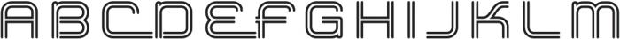 Hardliner BiLine AOE Regular otf (400) Font UPPERCASE