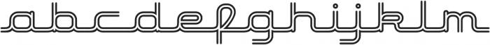 Hardliner BiLine AOE Regular otf (400) Font LOWERCASE