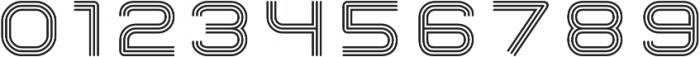 Hardliner TriLine AOE Regular otf (400) Font OTHER CHARS