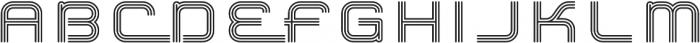 Hardliner TriLine AOE Regular otf (400) Font UPPERCASE