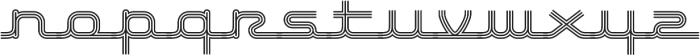 Hardliner TriLine AOE Regular otf (400) Font LOWERCASE