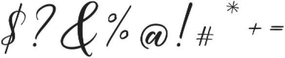 Hardwired Script Regular ttf (400) Font OTHER CHARS