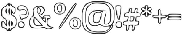 Hardy Street otf (400) Font OTHER CHARS