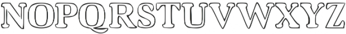 Hardy Street otf (400) Font UPPERCASE