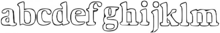 Hardy Street otf (400) Font LOWERCASE