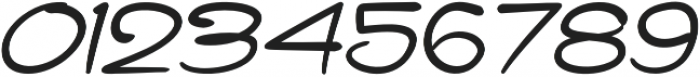 Haribu Italic otf (400) Font OTHER CHARS